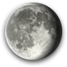 Waning Gibbous, Moon at 18 days in cycle